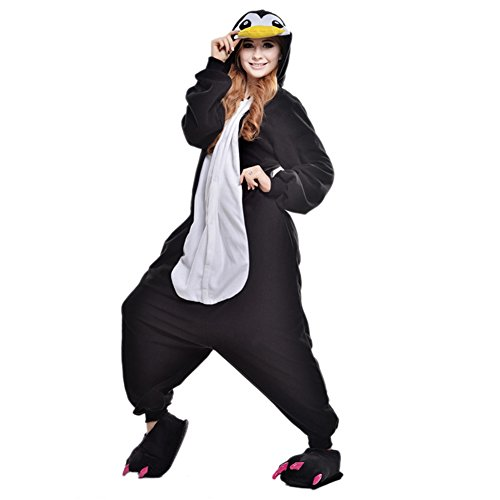 Sexy Penguin Costumes (Amurleopard Coverall Pajamas Hoodie Animal Costumes Cosplay Penguin L)