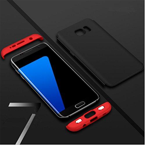 Funda Galaxy S7 Edge, Vanki® 360 Grados Caso Carcasa Cubierta de lujo 3in1 híbrido la cubierta Anti-Arañazos Anti-Choque de la PC para Samsung Galaxy S7 Edge Azul