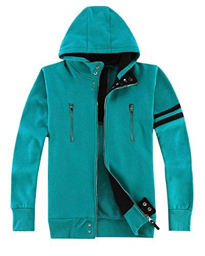 Ya-cos Ken Kaneki Cosplay Costume Cotton Long-Sleeve Jacket Hoodie Coat (Asia(Medium)=US(Small), Green) for $<!--$29.99-->