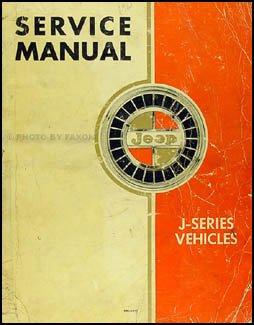 1962-1963 Jeep Gladiator & Wagoneer Repair Shop Manual Original