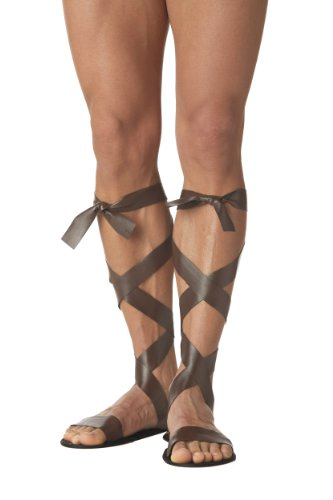 Cupid Costume Men (California Costumes Men's Roman Sandal, Brown,One Size Costume)