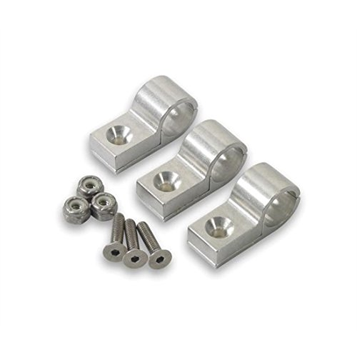 Polished Clamps (Earl's 170204 Polished Aluminum 1/4