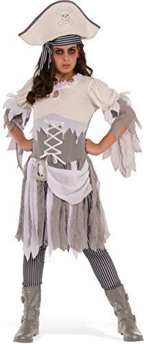 Rubies Costume Child's Ghostly Girl Pirate Teen Costume, Small, Multicolor
