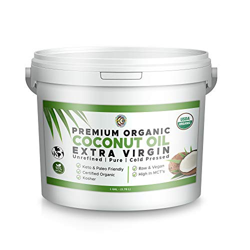 Earth Circle Organics Extra Virgin Coconut Oil, Cold Pressed