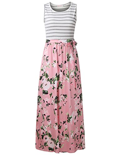 Dresses Spring Junior (FANVOOK Summer Dresses, Women's Casual Sleeveless Empire Waist Tribal Print Bohemian Maxi Dress PP S)