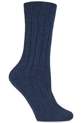 Ladies 1 Pair SockShop of London 100/% Cashmere Tuckstitch Bed Socks