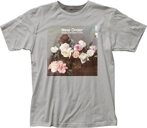DressCode New Order - Mens Power, Corruption & Lies Fitted Jersey T-Shirt, Size: Large, Color: Silver (New Order Power Corruption And Lies Shirt)