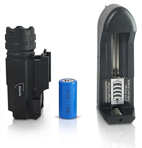 DefendTek Rechargable Tactical LED Gun Flashlight With Quick Release 300 Lumens DT M1 Model by