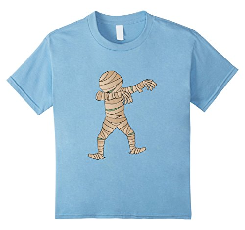 Mummy Dance Costume (Kids Funny Dabbing Mummy Halloween Shirt Dab Dance Tee 8 Baby Blue)