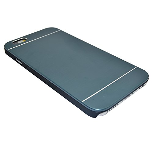 "iProtect housse de protection dur Hard Case en optique aluminium Apple iPhone 6 (4,7"") en noir bleu"