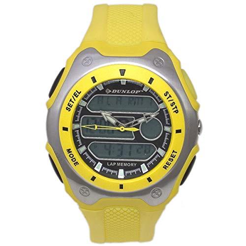 Dunlop Digital Watch Mens DUN180G10 Yellow Plastic Light