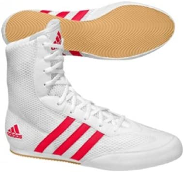 ADIDAS Box Hog Boxing Boots, White/Red