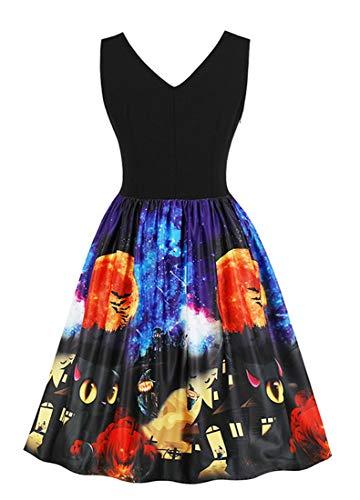78884887d4e ... Killreal Women s V-Neck Sleeveless Vintage Cocktail Christmas Swing  Dress Black-Halloween. Product 4809 5767. prev · Product List · next.  Model  ...