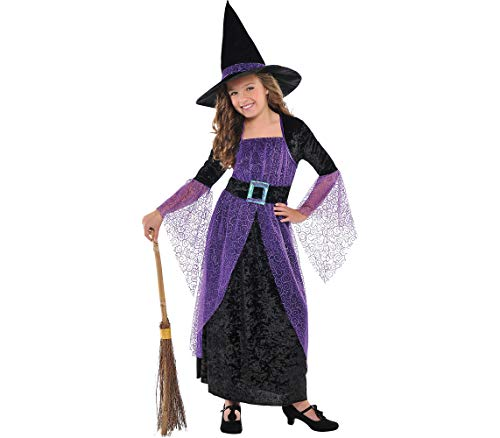AMSCAN Pretty Potion Witch Halloween Costume for Girls, Medium, with Included Accessories