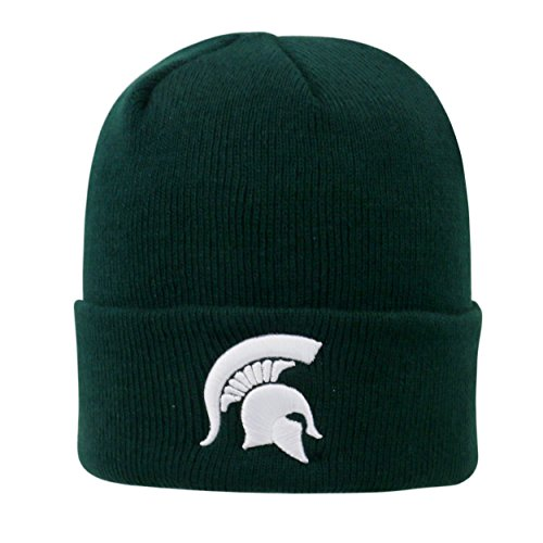 Michigan State Spartans 2-Sided Green Beanie Hat - NCAA Cuffed Winter Knit Cap