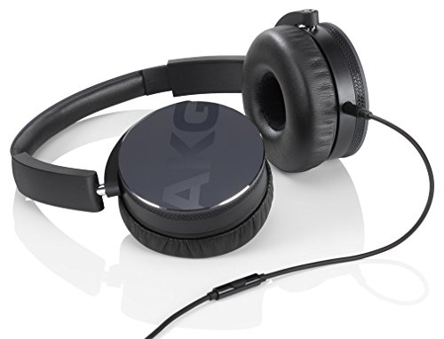 AKG Y50 Black On-Ear Headphone with In-Line One-Button Unive