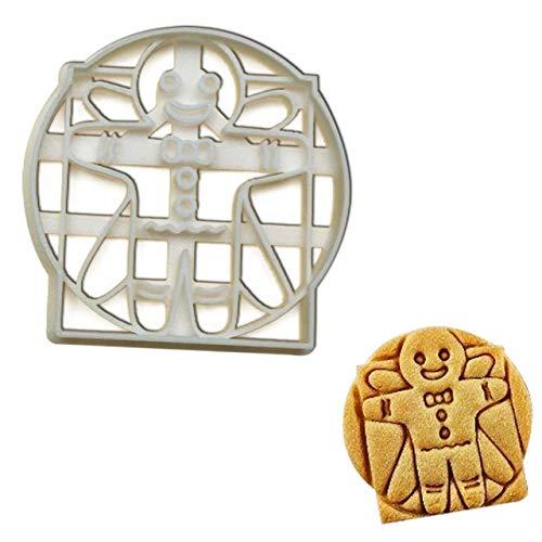 Vitruvian Gingerbread Man cookie cutter, 1 piece -