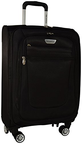 """Ricardo Eureka Wheelaboard Deluxe Superlight 21"""" Luggage Spinner Carry On (Black)"""