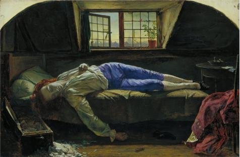 'Henry Wallis - The Death Of Chatterton,1856' Oil Painting, 8x12 Inch / 20x31 Cm ,printed On High Quality Polyster Canvas ,this High Definition Art Decorative Canvas Prints Is Perfectly Suitalbe For Gym Artwork And Home Artwork And Gifts ()
