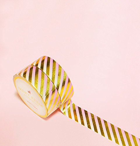 Gradient Pink in Gold Foil Washi Tape for Planning • Scrapbooking • Arts Crafts • Office • Party Supplies • Gift Wrapping • Colorful Decorative • Mask…