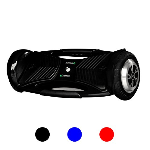 MOZZIE UL Certified, Single Platform, Auto Balancing Hoverboard with built in bluetooth speakers and tail lights -Black