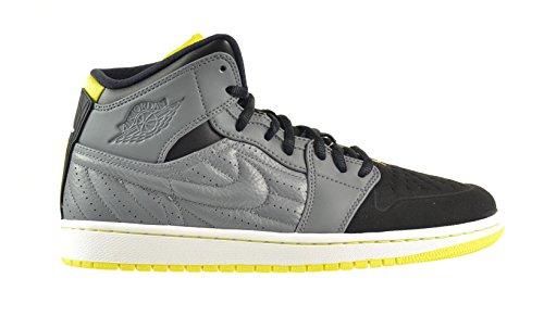遊び場爆弾ホイストエアジョーダン1レトロ' 99メンズ靴Cool Grey / Vibrant Yellow /ブラック/ホワイト654140 – 032