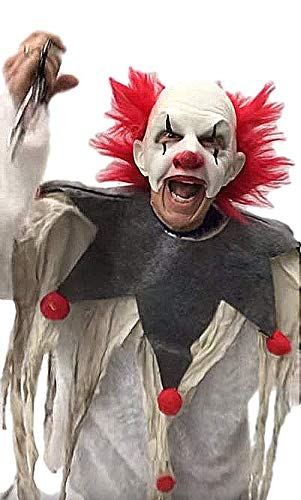 Zagone Carnival Creep Evil Scary Clown Mask Kit Costume Outfit Makeup -