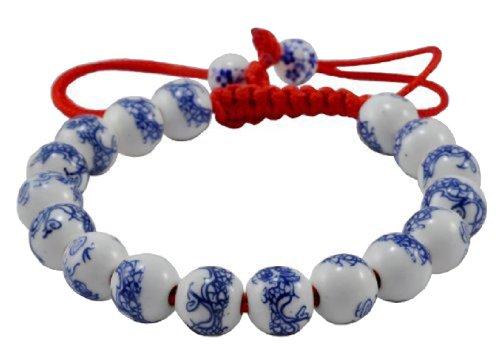 Round Beads Beaded Drawstring Handmade Macrame Fashion Bracelet