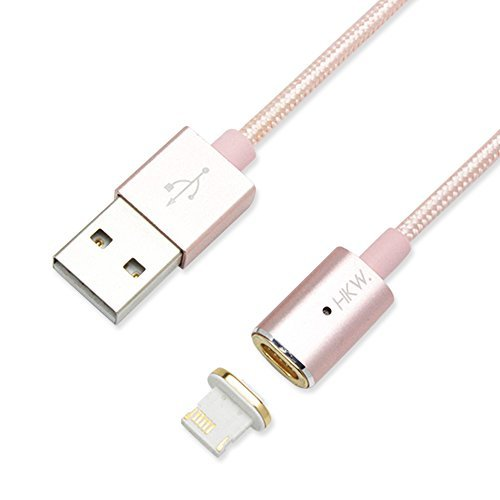 HKW Magnetic Lightning Charging Cable 4Ft/1.2m For iPhone (Pink) - Genuine Product