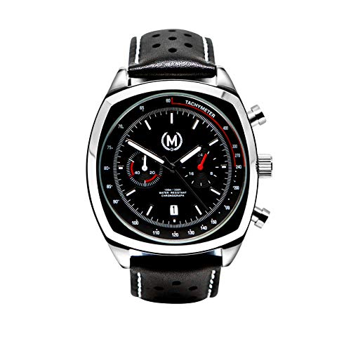 Marchand Driver Racing Watch | Racing Chronograph Watch | Retro Watch | British Designed | Chronograph Quartz Movement | Chronograph Watch | Leather Watch Band | Watches for Men | -