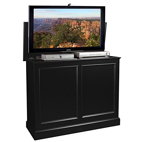 TVLiftCabinet, Inc Carousel Black TV Lift Cabinet - Amish Pedestal
