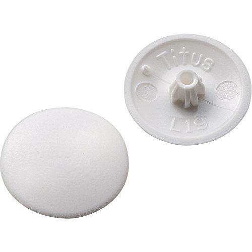 White Plastic Screw Caps - 1