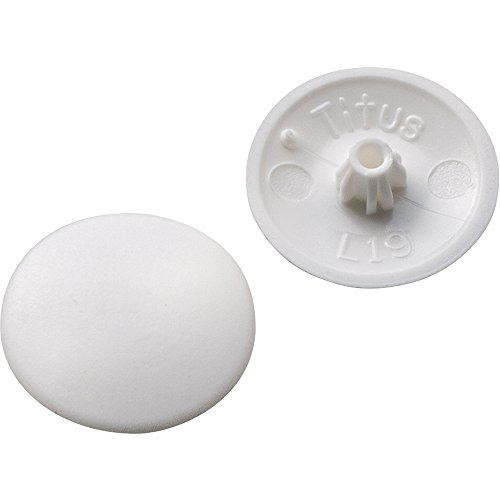 Screw Cap Covers - for Phillips and Square-X - White (100 per Pack) (Plastic Caps Screw White)