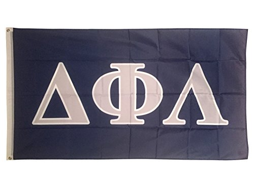Greek Sorority Merchandise (Desert Cactus Delta Phi Lambda Letter Sorority Flag Greek Letter Use as a Banner Large 3 x 5 Feet)