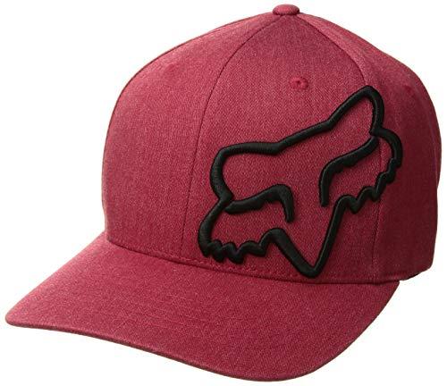 Fox Men's Clouded Flexfit HAT, Cardinal, L/XL