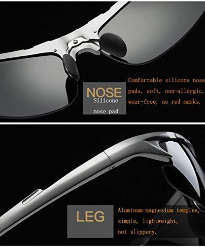para Dirección Nocturna Espejo Sol Gafas WJYTYJ con De con Gafas Día Aviador Polarizadas De para para El Visión Y Especiales Hombres Noche De La ppHgqx