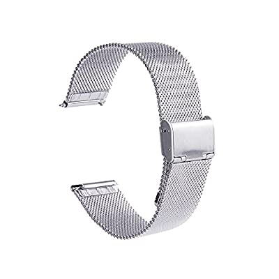 Fitbit Blaze Band Replacement Stainless Steel Luxury Designed with Quick Release Pins , EverAct™