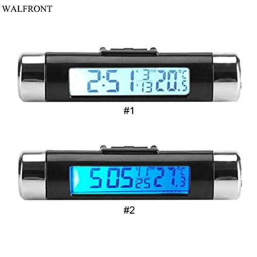 HAOMAO 1PCS recise LCD Thermometer Automotive Digital Backlight Clock Monitor Clip-on