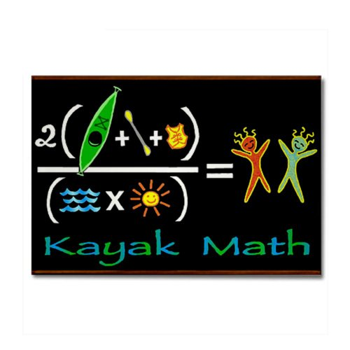 Whitewater Kayak Magnet (CafePress - kayak math blackboard Rectangle Magnet - Rectangle Magnet, 2