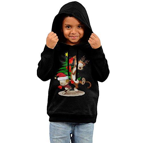 [MJKJ Infant Calvin And Hobbes Christmas Unisex Hoodies Black Size 3 Toddler] (Calvin And Hobbes Couple Costume)