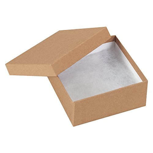 Boxes Fast BFJB3312K Jewelry boxes, Load Capacity, 3.5'' Length, 3.5'' width, 1.5'' Thick,, Kraft ( 00) by Boxes Fast (Image #1)