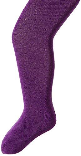 Jefferies Socks Big Girls' Seamless Organic Cotton Tights, Purple, 8-10 Years