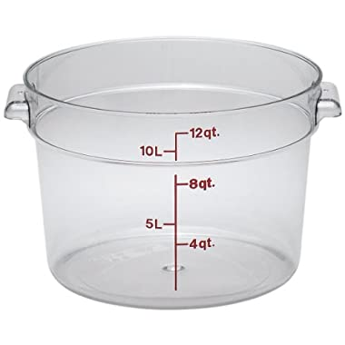 Camwear Polycarbonate Round Food Storage container, 12 Quart