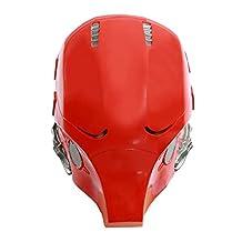 XCOSER Adult Red Hood Helmet Mask Costume Props for Halloween Cosplay