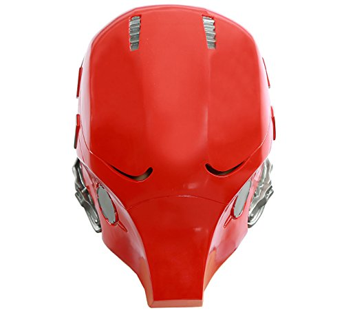 Updated Red Hood Mask PVC Helmet Full Head Adult Halloween Collectable Xcoser -