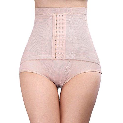 Larry&Marry Women Hook Waist Cinchers Girdle Belly Trainer Corset Tummy Control Body Floral Shaper - Floral Waist Cincher