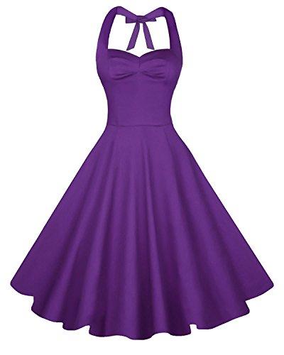Buy beautiful short purple dresses - 8