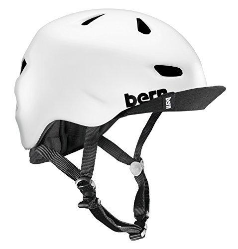 Bern Brentwood Men& 039;s Flip Visor Summer Urban Cycling Helmet blanco Satin Blanc Größe L XL by Bern