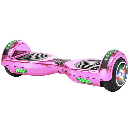 Xtremepowerus Self Balancing Scooter Hoverboard Ul2272 Certified  Bluetooth Speaker Led Light  Pink Chrome