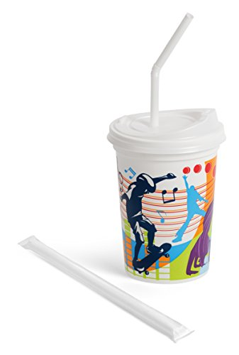 12oz Kids Cups, Injection Molded, with Lids and Straws, A...